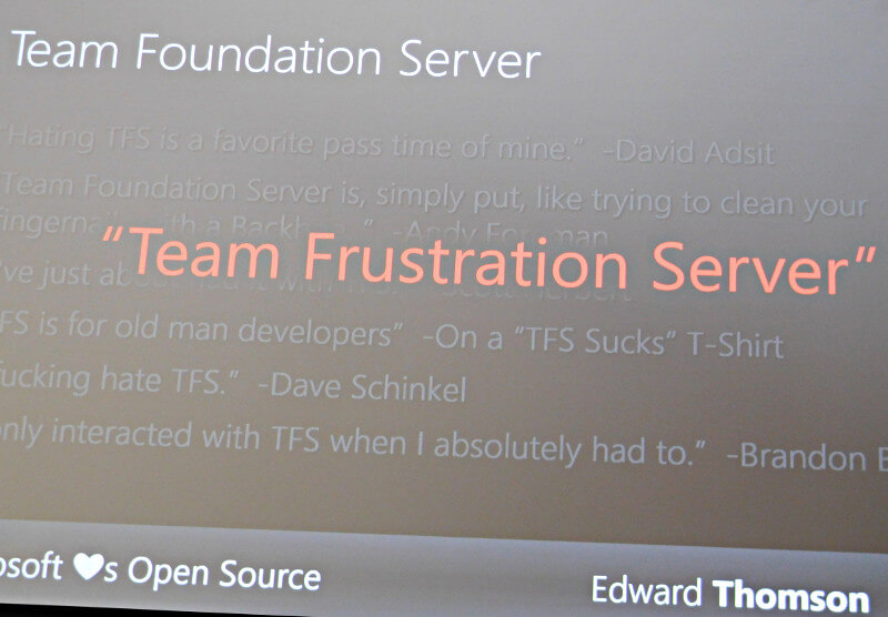 Team Foundation Serverの社内で評判は散々