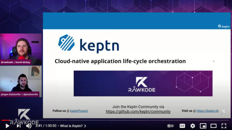 「Cloud-native application life-cycle orchestration」がキャッチコピー
