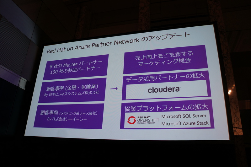 Red Hat on Azure Partner Networkの最新状況